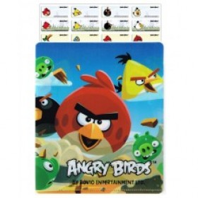Angrey Birds Name Stickers (Small)