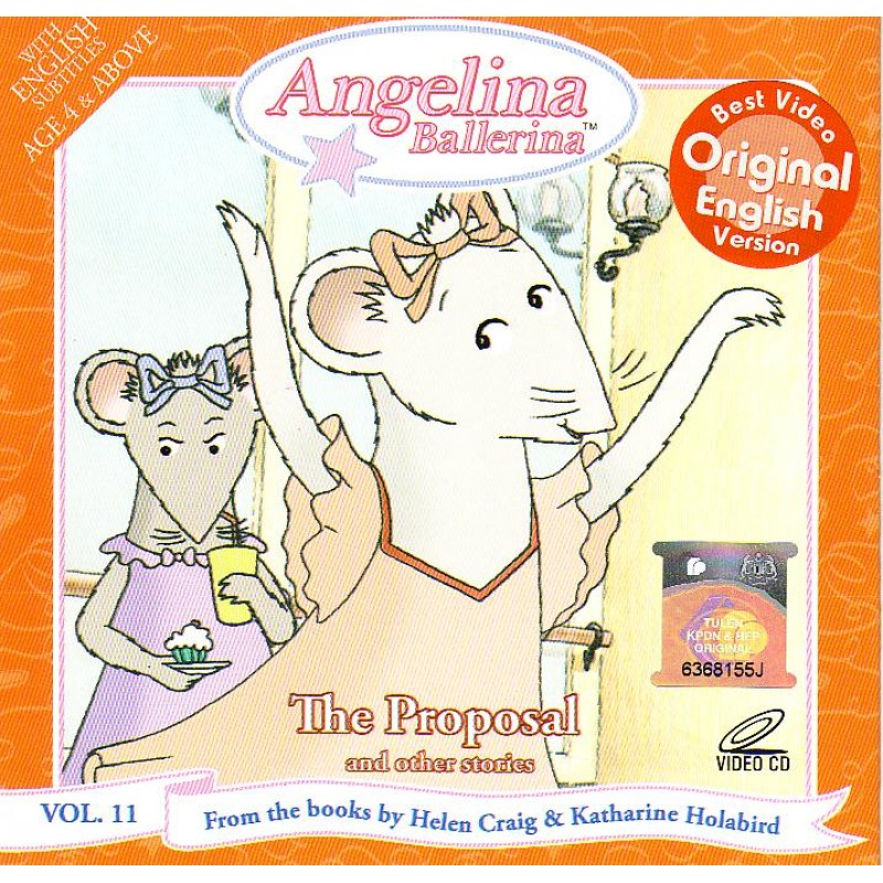 Angelina Ballerina The Proposal Vol 11 Vcd