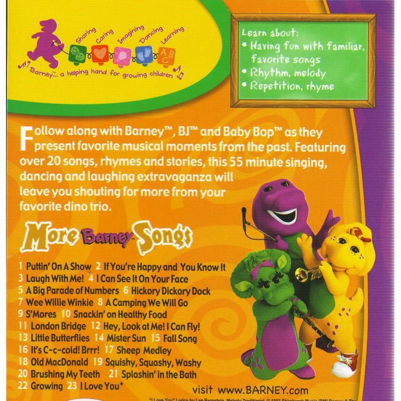 More Barney Songs Dvd Barney More Barney Songs Dvd