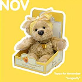 November Birthday Bear