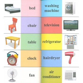 Chinese-English Picture Dictionary 4 (Household Items, Necessities, Stationery, Toys)