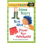 I am Going to Read - Green Boots Blue Hair Polka-Dot Underwear