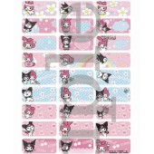 Kuromi Name Stickers (Medium)
