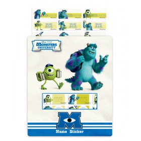 Monsters University Name Stickers (Medium)