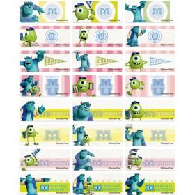 Monsters University Name Stickers (Medium)