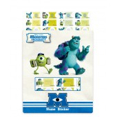 Monsters University Name Stickers (Small)