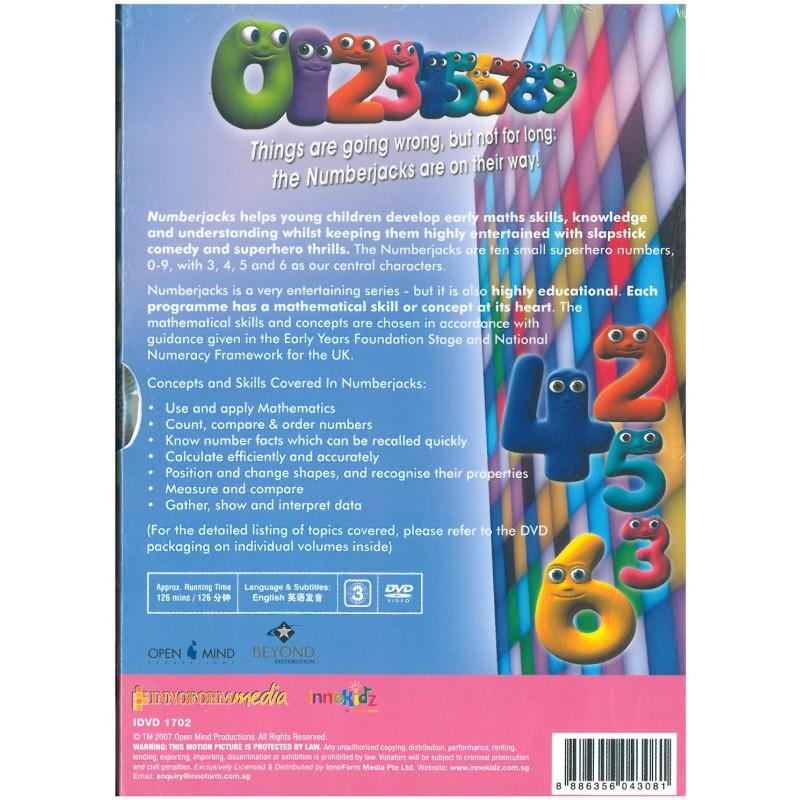 Numberjacks Series 1 5DVD Boxset – Numberjacks Birthday Card
