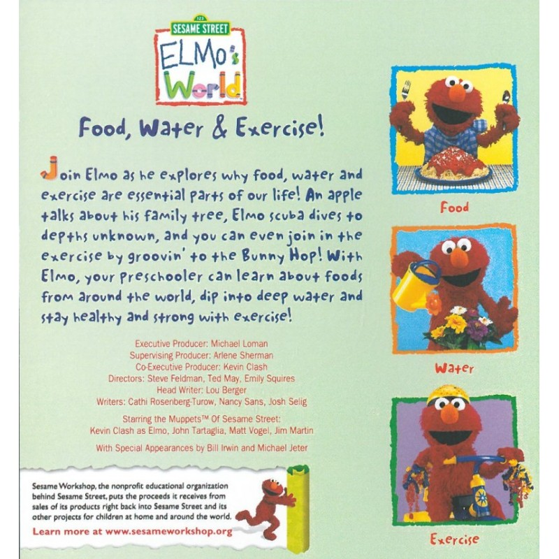 Sesame Street Elmo S World Food Water And Exercise
