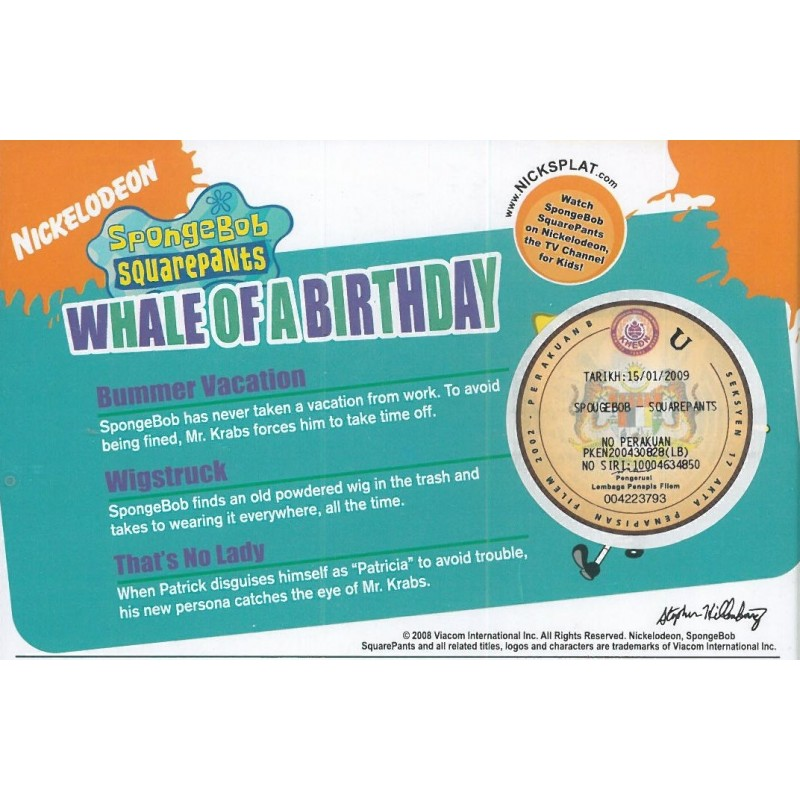 Spongebob Squarepants - Whale of a Birthday (Vol  2) (VCD)